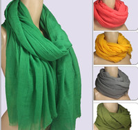 Wholesale new fashion Solid Scarf Sarongs Hijabs Bandanas wrap shawl poncho cm mixed color