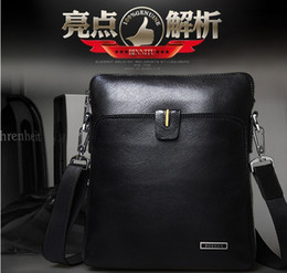 Wholesale European and American fashion classic men shoulder bag leather Cowhide bag briefcase business bag