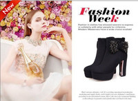 Wholesale Exquisite Sexy High heeled Crystal Winter Wedding Bridal Shoes Party Shoes Wedding Shoes