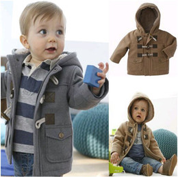 Wholesale retail Baby Boys winter trench thickening outerwear Children Hoodies Coat Double Breasted