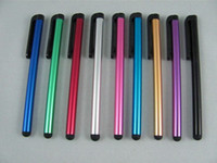Accessory Bundles Stock  Capacitive Screen Stylus touch Pen for iphone 5 4 4S 3GS N7000 ipad 2 3 P1000 ipod On Sale 10pcs lot