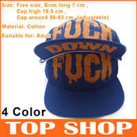 Wholesale Ball Caps Head Circumference cm Cotton Adjustable Letters Hip Hop Cap Baseball Hats Both Men And Women Flat Brimmed Hat Color