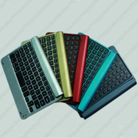 Wholesale A2 Colorful Ultrathin Aluminum Alloy Bluetooth wireless keyboard for Apple ipad mini thin Case accessories