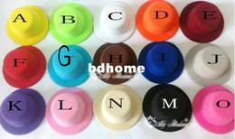15color 5quot; Felt sólida base de Mini Top Hat Fascinator Millinery Partido Mulheres Hat 50pcs / lot Frete grátis