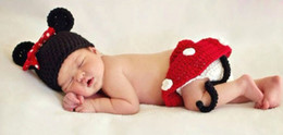 Wholesale 3pcs Minnie Girl Infant Baby Hat Skirt Shoes Crochet Knit Photo Prop Costume NEW