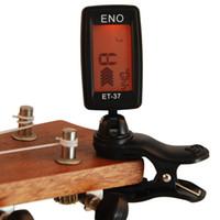 Wholesale Mini Black Portable Best Tuner Digital ET Clip On For Chromatic Guitar Bass Violin Ukulele Wind