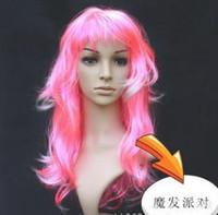 Wholesale Halloween long hair wigs hair wigs Party hair wigs curl hair clown hair wigs