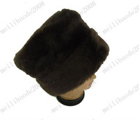 Wholesale Top Quality Faux Fur Dome Caps Russian Hats Trapper Hats Beanie Skull Hats Stock MYY6740