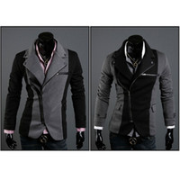 Men Waist_Length Wool Blend New Top Design Mens Casual Sexy Slim Fit Blazers Coats Suit Jackets 2 Color W