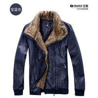 Men korean leather jacket - New Winter Leather Jacket Coat Fashion Men Thicken Leather Jacket Men s New Fur Suit korean Men Coat Jacket Outerwear Fur Collar Men Coat M5