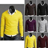 Wholesale Mens Premium Stylish Slim Fit V Neck Sweater Jumper Tops Cardigan C