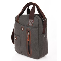 Wholesale new shoulder bag Messenger bag leisure cotton canvas bag with leather bag wsd66