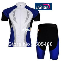 Wholesale 2013 NEW Polyester pad COOLMAX JISU blue bicycle apparel Cycling wear bikes wear short sleeve jersey shorts
