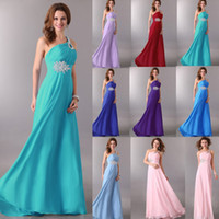Chiffon grace karin - Grace Karin New Elegent One Shoulder Long Empire Evening Gown Party Bridesmaid Dress Lace Up CL2949
