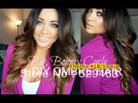 Wholesale African American body wave ombre b Glueless lace front wig Brazilian virgin human hair Freeshipping