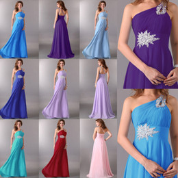 Wholesale Hot Sale Wedding Bridesmaid Dress Stylish One Shoulder Sheath Long Prom Gown Party Dresses CL2949