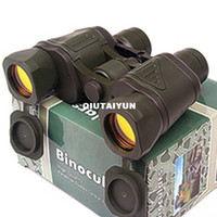 Wholesale Free shiping x Green Coated Telescope Binoculars with Neck Strap amp Lens Cloth for Backpacking Hiking WY163