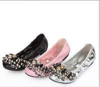 Loafers beaded career - lijunzhillove South Korean style Perfect design Manual diamond chain Beaded design sexy Flat shoes Dancing shoes