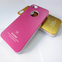 For Apple iPhone air jacket iphone case - New Luxury Gold A5 Air jacket shell bling Aluminum Metal Metallic Shiny Hard Shiny Ultrathin Frosted Case Cover Skin For iphone S S C