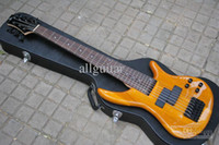 natural Solid new H&S 7 strings bass natural Yellow Rare Electric Bass Guitar Chinese guitar