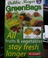 Wholesale 10packs green keep fresh bags make your food healthier and Saves money and eliminates waste