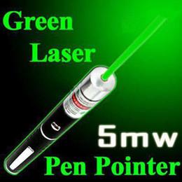 5mW 532nm qualité lumière faisceau vert stylo pointeur laser Pour Mont Nuit Chasse enseignement en réunion