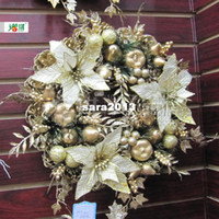 Wholesale 40cm apophysis gold encryption christmas wreath christmas tree decoration