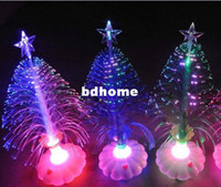 Wholesale Christmas tree decoration cute and compact LED fiber optic Christmas tree best gift for Christmas cm
