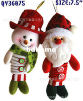 Wholesale New Arrival Christmas Decorations Spring Butt Santa Pendant Festival Items Christmas Fabric ZS008