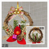 Wholesale Min order is mix order cm Christmas Decoration Gift Christmas Tree Pine Cone Garland Wreath Door Hanging Christmas Wreath