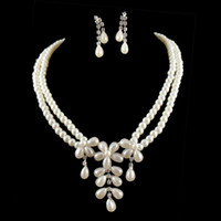 Wholesale hot wedding bride jewelry set rhinestone set