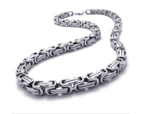 Wholesale Sales promotion Men s Necklace mm byzantine chain Stainless Steel jewelry silver