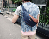 Wholesale Han edition Oxford small canvas with leather purse men s chest package