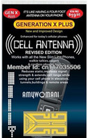 Wholesale Newest golden Shiny Revised Edition Generation X Plus antenna booster