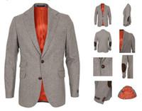 tweed jacket - CUSTOM MADE TO MEASURE HERRINGBONE TWEED JACKET MEN BESPOKE CASUAL TWEED BLAZER FASHION DRESS