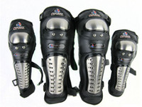 Wholesale Motorcycle Stainless Steel Racing Rider Elbow amp Knee Pads Armor Protective Guard