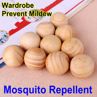 Wholesale 200PCS Mosquito Repellent Wood Pellets Natural Sweet Fume Mothball Insecticide Pest Control Prevent Mildew Wardrobe Perfume
