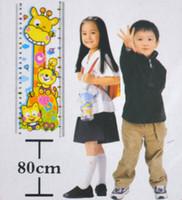 Wholesale Baby foot height cartoon height wall stickers cartoon animal graphic patterns cartoon pattern g