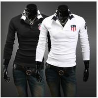 Men Long Sleeve Cotton Free shipping! Men's New Fashion Long-sleeved T-shirt.QW029