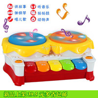 Baby Boys Learning Machine Christmas gift RBaby multifunctional story telling the violin electronic piano hand drum music luminous child musical instrument toy