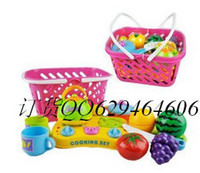 Wholesale Christmas gift RChildren s toys the fruit basket Simulation shopping basket kitchenware kitchen combination suit every family toys