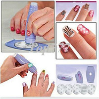 Nail Art Stamping Machine Nail Art Equipment  Salon Nail Art Express Decals Stamp Stamping Polish Design Kit Set Decoration