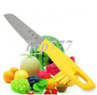 Wholesale promotion Fruit ABS Straight handle stainless steel knife with Scabbard retail box