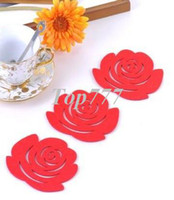 Wholesale design Fashion Originality Felt coasters Household Supplies Cup Mat