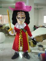 al por mayor pirata mascota-2013 Nuevo tamaño adulto El equipo del capitán Pirate Hook Mascot Traje Traje Completo del traje de lujo