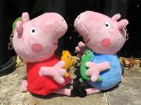 Wholesale Peppa Pig Family cartoon stuffed plush cute kids toddler toys sets