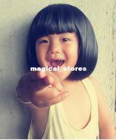 Wholesale Baby wig hat children cap baby photography wig wigs hair short hair hat child student ET05