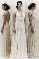 2014 Jenny Packham Summer Beach lace Wedding Dresses Sexy V ...