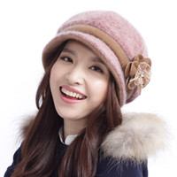 Wholesale Fashion Hats Women Three dimensional Flower Woolen Hat Autumn and Winter Beret Millinery Short Brim