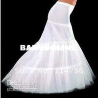 All'ingrosso - BUON prezzo e di qualità ! sirena sottoveste 3 cerchi abito da sposa bianco, in crinolina